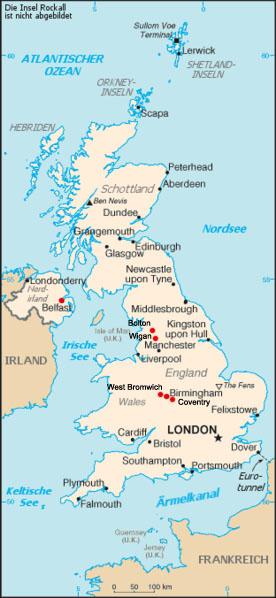 Birmingham Karte.Irland Und England 06